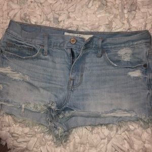 High wasted A&F jean shorts